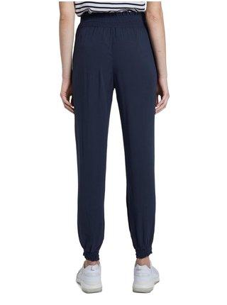 Tmavomodré dámske nohavice Tom Tailor Denim