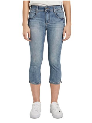 Modré dámské 3/4 skinny fit džíny Tom Tailor