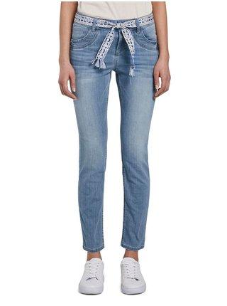 Modré dámské slim fit džíny Tom Tailor
