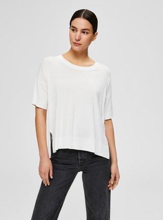 Biele voľné tričko Selected Femme Wille