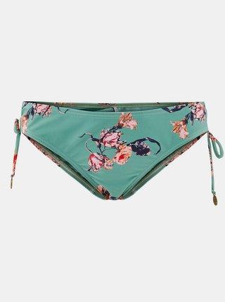 Zelený květovaný spodní díl plavek Pieces Nynne