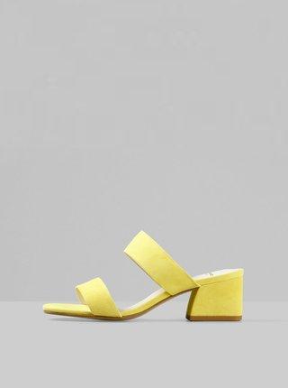 Žlté dámske semišové šľapky Vagabond