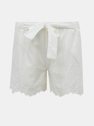 Biele kraťasy s madeirou ONLY Sherey