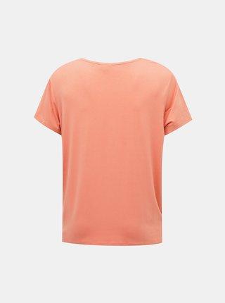 Ružové basic tričko ONLY CARMAKOMA