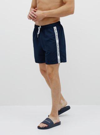 Tmavě modré pánské plavky s potiskem Calvin Klein Underwear