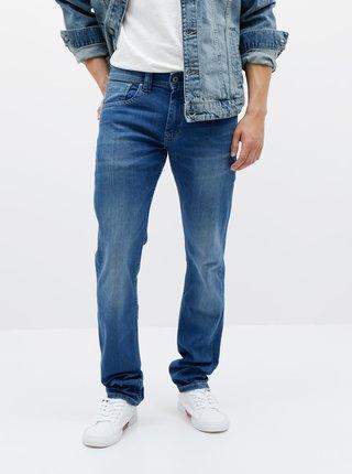 Modré pánske straight fit rifle Pepe Jeans Cash