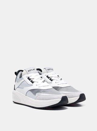 Bílé dámské tenisky na platformě Replay