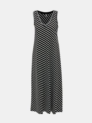 Černé pruhované maxišaty ONLY Marie