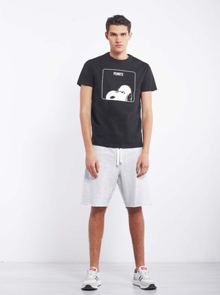 Čierne pánske tričko Alcott Snoopy