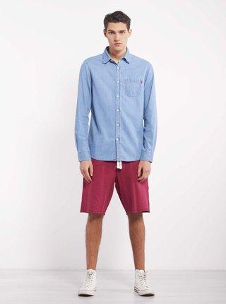 Modrá pánska rifľová košeľa Alcott