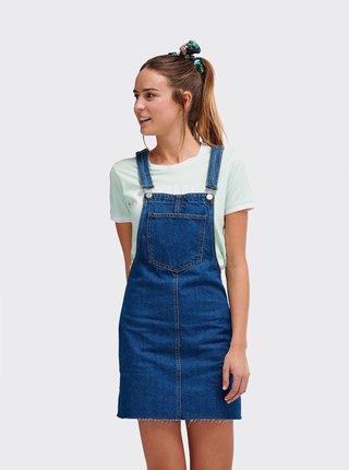 Modré rifľové šaty Alcott