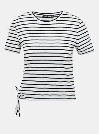 Černo-bílé pruhované krátké tričko TALLY WEiJL
