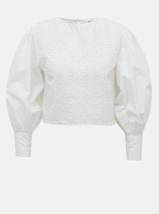 Bílá krátká halenka s madeirou TALLY WEiJL