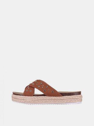 Hnědé dámské pantofle Haily´s Riva