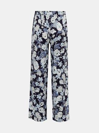 Tmavě modré květované kalhoty ONLY Nova