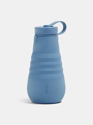 Modrá cestovná skladacia fľaša Stojo 590 ml