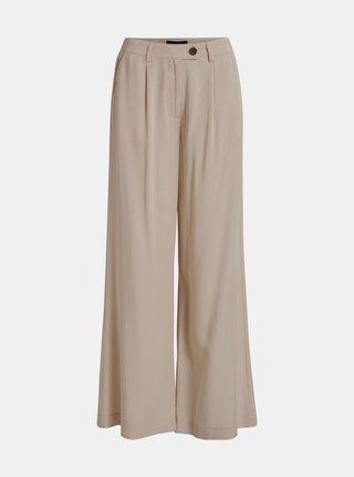 Béžové voľné nohavice Object