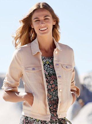 Světle růžová džínová bunda M&Co