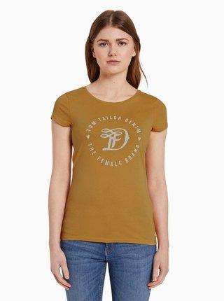 Horčicové dámske tričko Tom Tailor Denim