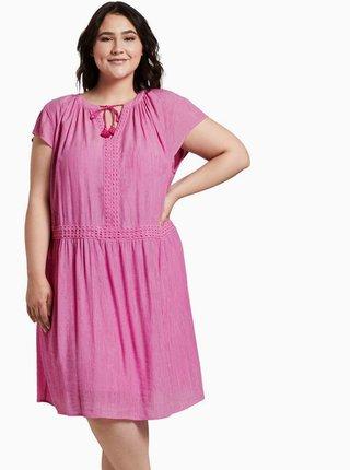 Růžové šaty My True Me Tom Tailor
