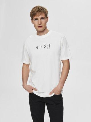 Biele tričko Selected Homme Ryan