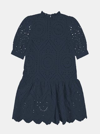 Tmavomodré dievčenské šaty s madeirou name it Denisa