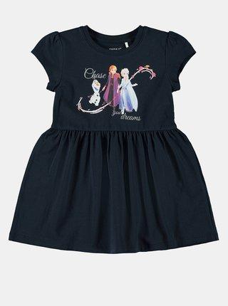 Tmavě modré holčičí šaty name it Frozen