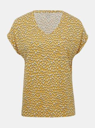 Žluté vzorované tričko M&Co