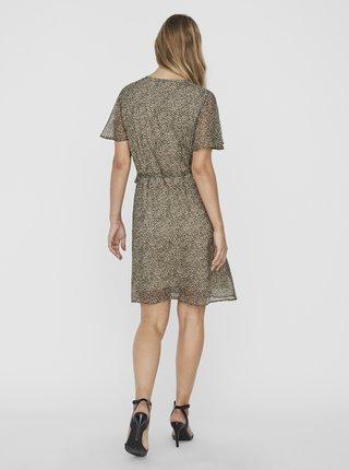 Béžové vzorované zavinovacie šaty VERO MODA Kay