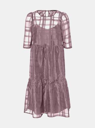 Fialové voľné šaty VERO MODA Vava