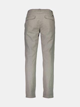 Šedé lněné kalhoty Lindbergh