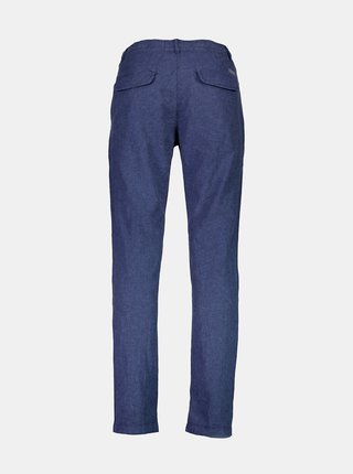 Modré lněné kalhoty Lindbergh