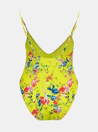 Žlté kvetované jednodielne plavky Pieces Naomi