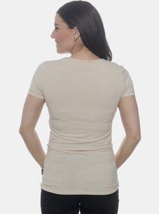 Béžové dámské tričko SAM 73