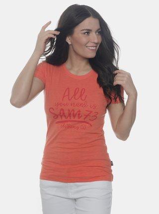 Oranžové dámske tričko SAM 73
