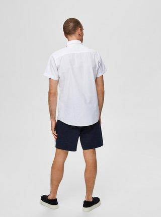 Bílá košile s příměsí lnu Selected Homme