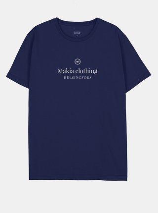 Tmavě modré pánské tričko Makia Horizon