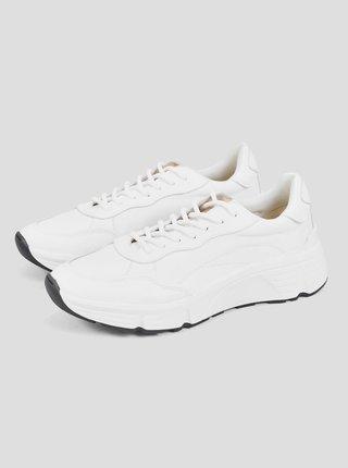 Biele pánske kožené tenisky Vagabond Quincy
