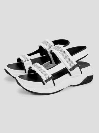 Biele dámske sandále na platforme Vagabond Lori