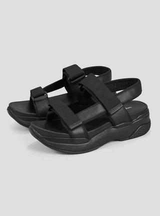 Čierne dámske sandále na platforme Vagabond Lori