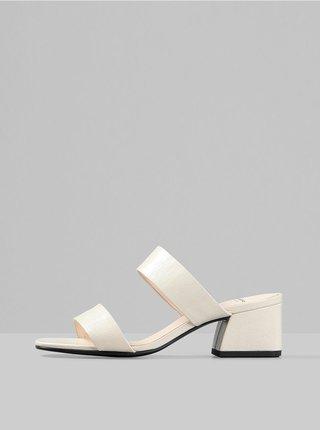 Krémové dámské kožené pantofle Vagabond Elena