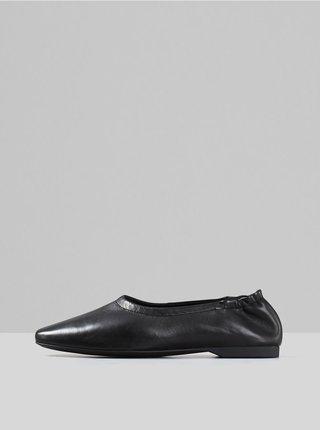 Čierne kožené baleríny Vagabond Maddie