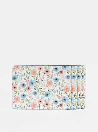 Sada štyroch bielych kvetovaných prestieraní Cooksmart