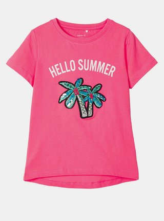 Růžové holčičí tričko name it Josey