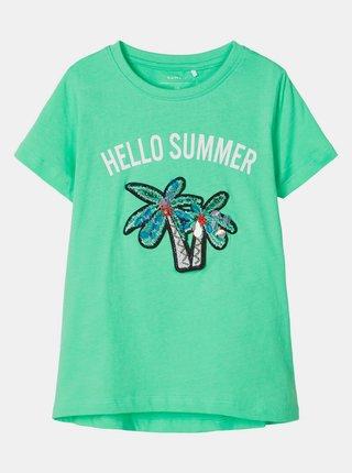 Zelené holčičí tričko name it Josey