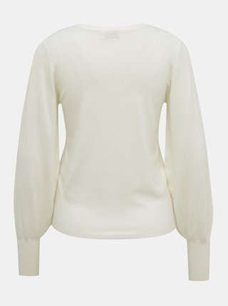 Biely sveter Jacqueline de Yong