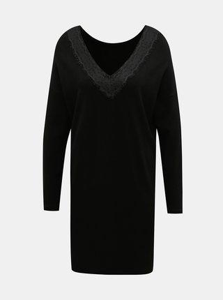 Černé svetrové šaty ONLY
