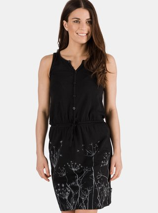 Černé šaty s potiskem SAM 73