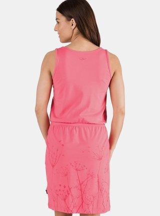 Růžové šaty s potiskem SAM 73