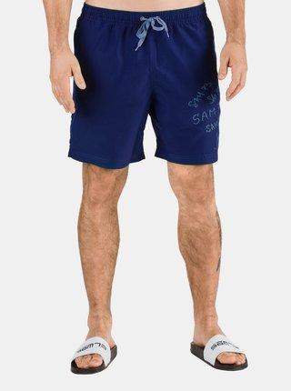 Modré pánske plavky s potlačou SAM 73